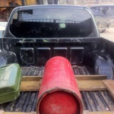 Установили защитную роллету на кузов пикапа в Симферополе 02