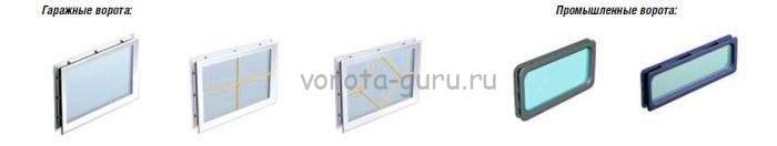 Окна для секционных ворот ДорХан